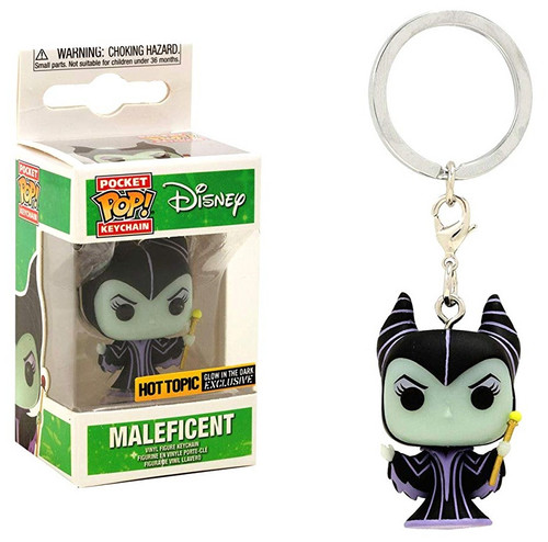 Funko Sleeping Beauty POP! Disney Maleficent Exclusive Keychain [Glow-in-the-Dark]