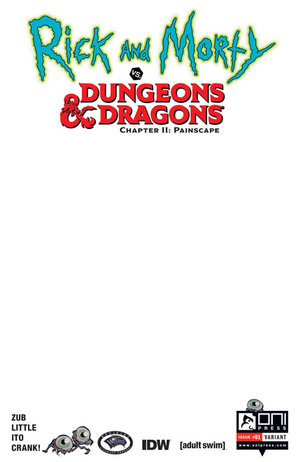 Oni Press Rick & Morty Vs. Dungeons & Dragons II #1 Comic Book [Troy Look Cover C]