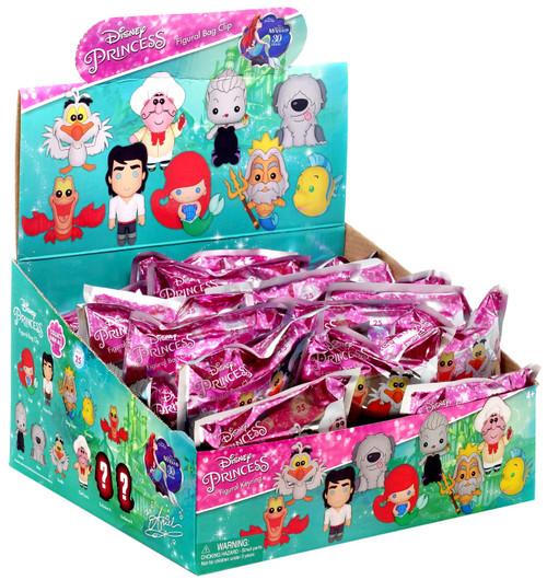 Disney Princess 3D Figural Foam Bag Clip The Little Mermaid 30th Anniversary Mystery Box [24 Packs]