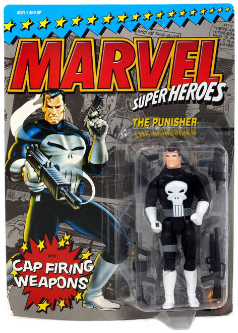 Marvel Super Heroes The Punisher Action Figure [Cap Firing Weapons, Damaged Package]
