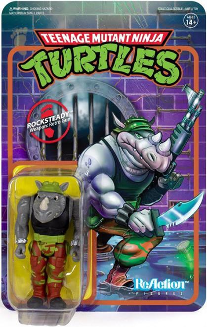 ReAction Teenage Mutant Ninja Turtles Rocksteady Action Figure