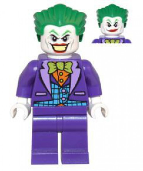 LEGO DC Universe Super Heroes Batman II The Joker Minifigure [Blue Vest, Dual Sided Head Loose]
