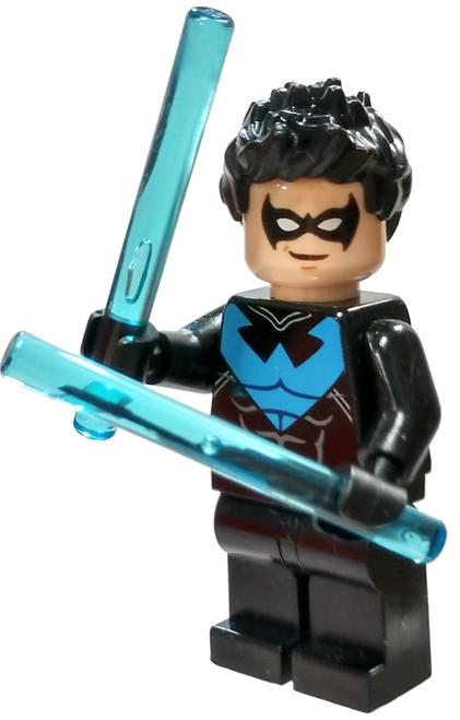 LEGO DC Universe Super Heroes Batman II Nightwing Minifigure [Blue Loose]