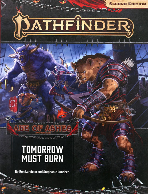 Pathfinder 2st Edition Age of Ashes Tomorrow Must Burn Roleplaying Book