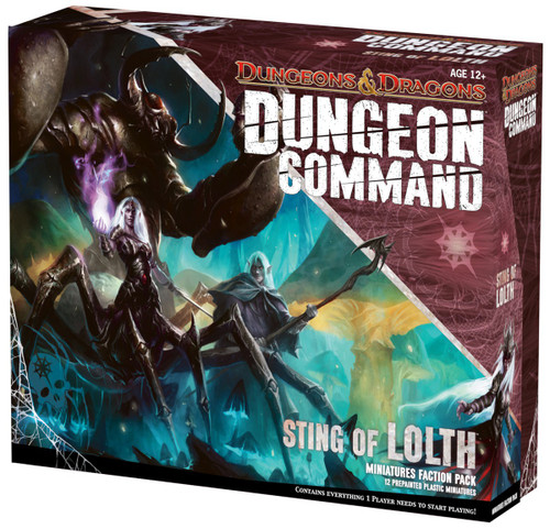 Dungeons & Dragons Dungeon Command Sting of Lolth Board Game [Miniatures Faction Pack]
