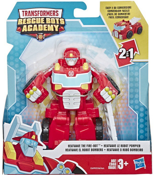 """Transformers Playskool Heroes Rescue Bots Academy Heatwave the Fire-Bot 4.5"""" Action Figure [Classic]"""