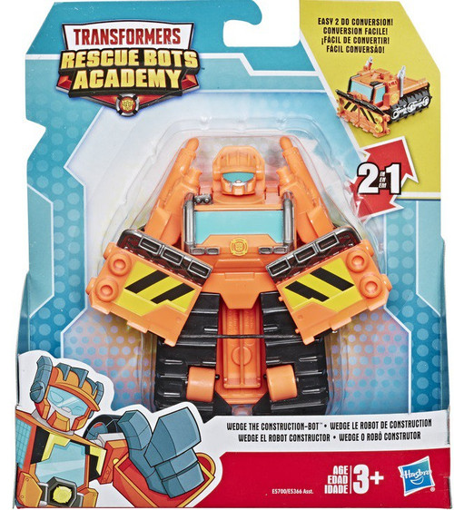"""Transformers Playskool Heroes Rescue Bots Academy Wedge the Construction-Bot 4.5"""" Action Figure"""