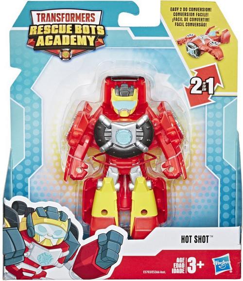 """Transformers Playskool Heroes Rescue Bots Academy Hot Shot 4.5"""" Action Figure"""