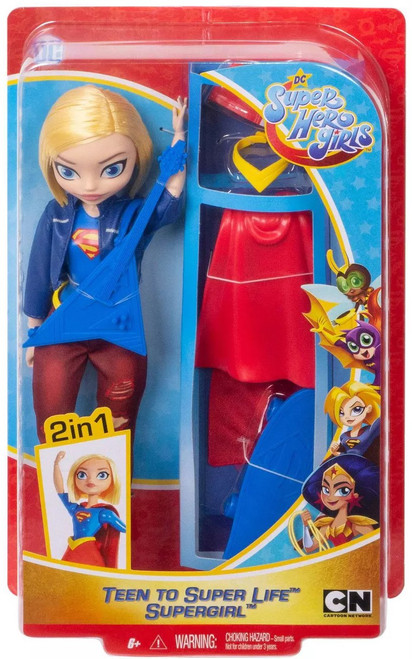 DC Super Hero Girls Teen to Super Life Supergirl 12-Inch Doll