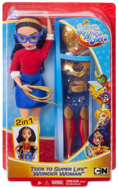 DC Super Hero Girls Teen to Super Life Wonder Woman 12-Inch Doll
