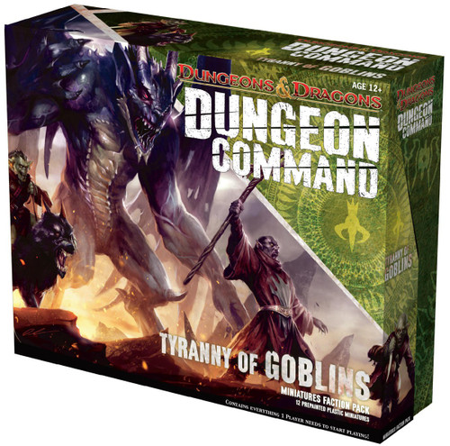 Dungeons & Dragons Dungeon Command Tyranny of Goblins Board Game [Miniatures Faction Pack]