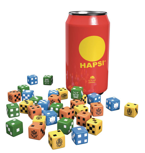 GKR: Heavy Hitters Hapsi Cans Board Game Dice Accessory [Original Flavor]