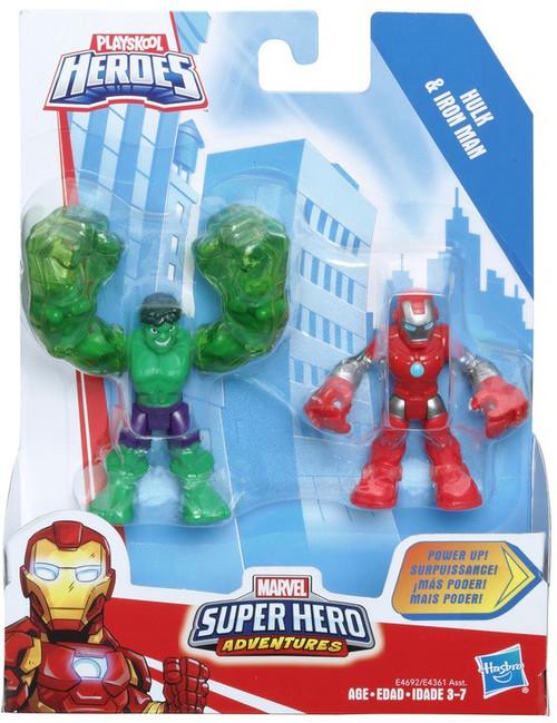 Marvel Playskool Heroes Super Hero Adventures Iron Man & Hulk Action Figure 2-Pack [Power Up!]
