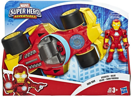 Marvel Playskool Heroes Super Hero Adventures Iron Man Speedster Action Figure & Vehicle