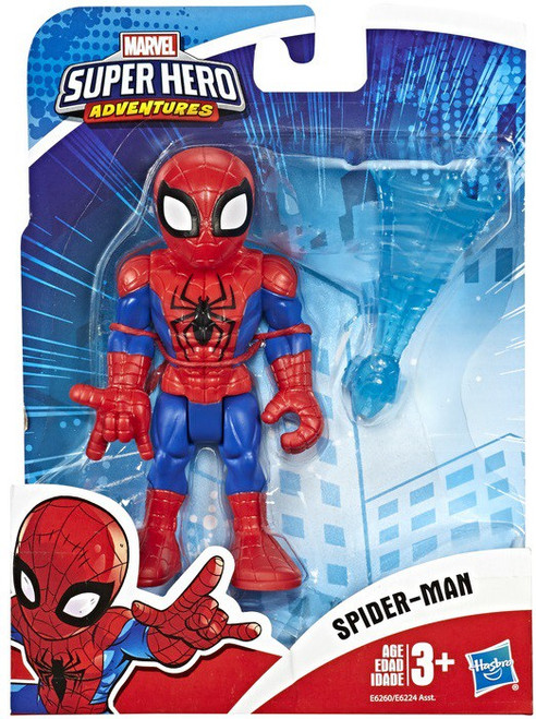 Marvel Playskool Heroes Super Hero Adventures Spider-Man Action Figure [with Web]