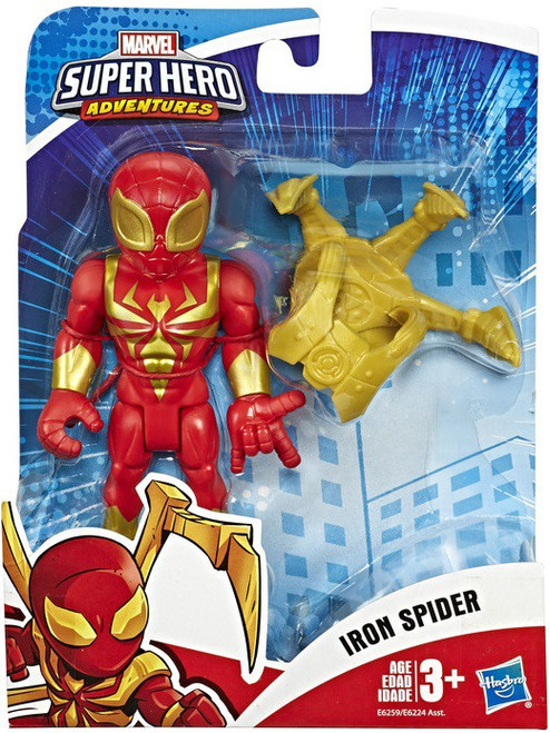 Marvel Playskool Heroes Super Hero Adventures Iron Spider with Spider-Arms Action Figure Set