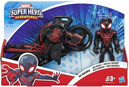 Marvel Playskool Heroes Super Hero Adventures Kid Arachnid Web Wheels Action Figure Set