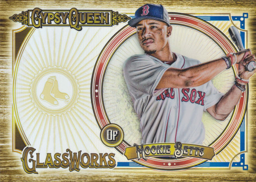 MLB Topps 2018 Gypsy Queen Baseball Glassworks Mookie Betts 6-Inch Oversized Single Card [GW-MB]