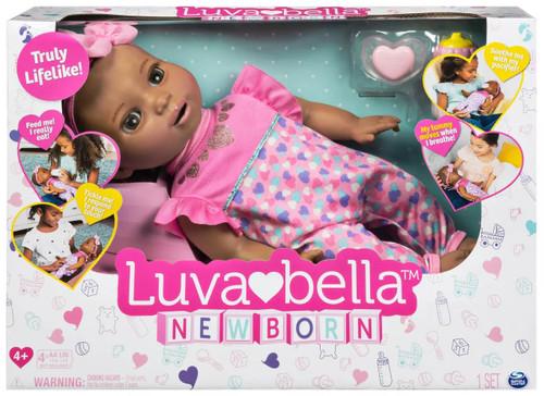 Luvabella Newborn Brown Hair Responsive Baby Doll