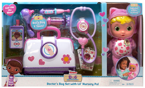 Disney Doc McStuffins Pet Rescue Doctor's Bag Set with Lil' Nursery Pal Exclusive Playset [Lil' Kitty]