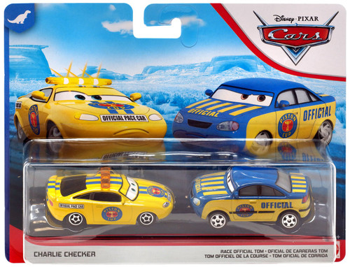 Disney / Pixar Cars Cars 3 Dinoco 400 Charlie Checker & Race Official Tom Diecast 2-Pack
