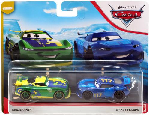 "Disney / Pixar Cars Cars 3 ""Next-Gen"" Piston Cup Racers Eric Braker & Spikey Fillups Diecast 2-Pack [2019]"