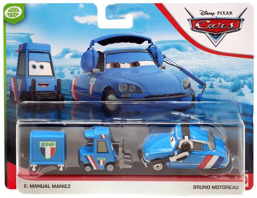 Disney / Pixar Cars Cars 3 WGP E. Manual Maniez & Bruno Motoreau Diecast 2-Pack