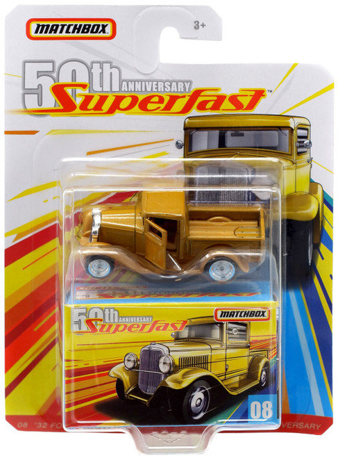 Matchbox 50th Anniversary Superfast '32 Ford Pickup Diecast Vehicle #08