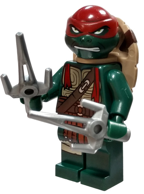 LEGO Teenage Mutant Ninja Turtles Raphael Minifigure [Movie Version, Gritted Teeth Loose]