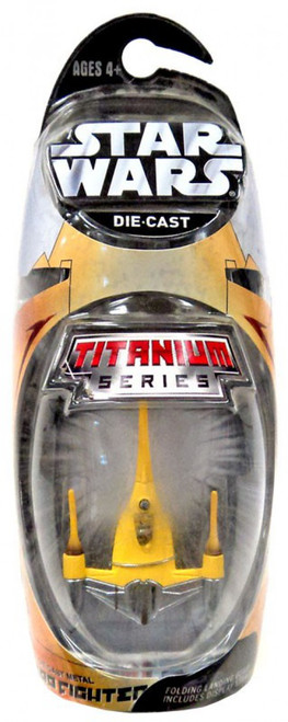 Star Wars Phantom Menace Titanium Series 2006 Naboo Fighter Exclusive Diecast Vehicle [Damaged Package, Mint Contents]
