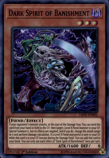 YuGiOh Legendary Duelists: Immortal Destiny Super Rare Dark Spirit of Banishment LED5-EN002