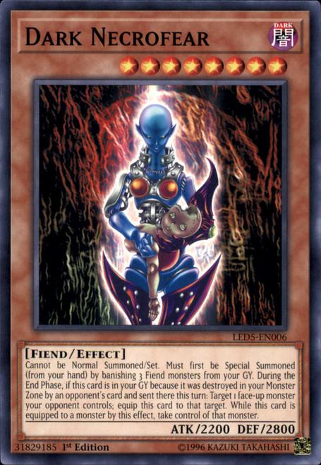 YuGiOh Legendary Duelists: Immortal Destiny Common Dark Necrofear LED5-EN006