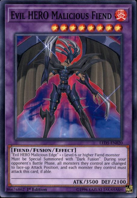YuGiOh Legendary Duelists: Immortal Destiny Common Evil HERO Malicious Fiend LED5-EN020
