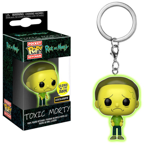 Funko Rick & Morty POP! Animation Toxic Morty Exclusive Keychain [Glow-in-the-Dark, Damaged Package]