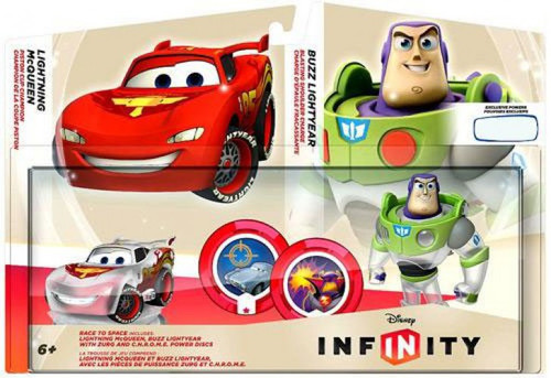 Disney Cars Disney Infinity Race to Space Exclusive Game Figure 2-Pack [Damaged Package]