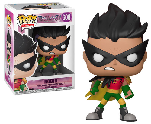 Funko Teen Titans Go! POP! TV Robin Vinyl Figure #606 [The Night Begins to Shine, Damaged Package]