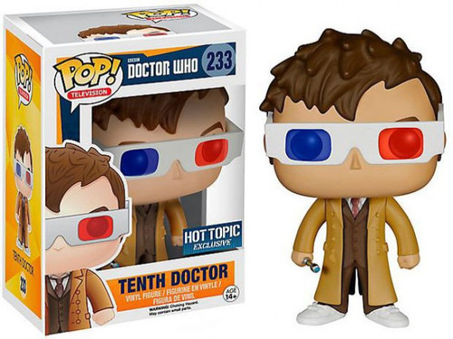 Funko Doctor Who POP! TV Tenth Doctor Exclusive Vinyl Figure #233 [3D Glasses, Damaged Package]