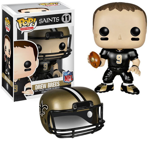 Funko NFL New Orleans Saints POP! Sports Football Drew Brees Vinyl Figure #11 [Black Jersey, Damaged Package]