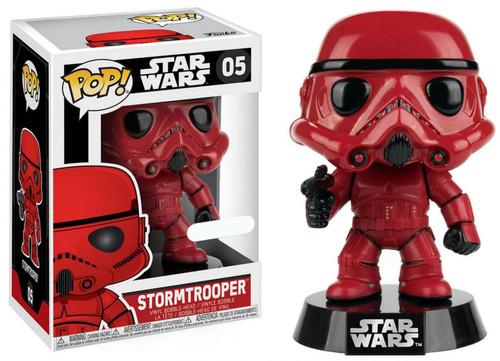 Funko POP! Star Wars Stormtrooper Exclusive Vinyl Bobble Head #05 [Red, Damaged Package]