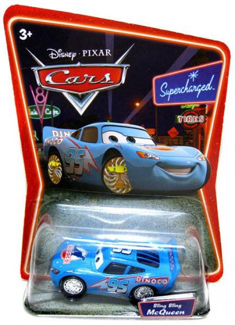 Disney / Pixar Cars Supercharged Bling Bling Lightning McQueen Diecast Car [Damaged Package]