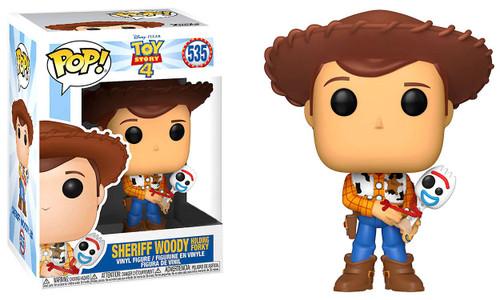 Funko Disney / Pixar Toy Story 4 POP! Disney Sheriff Woody Exclusive Vinyl Figure #535 [Holding Forky, Damaged Package]