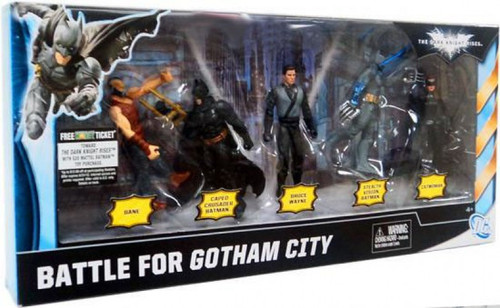 Batman The Dark Knight Rises Battle For Gotham City Exclusive Action Figure 5-Pack [Damaged Package]