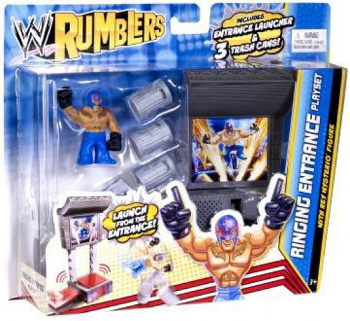 WWE Wrestling Rumblers Series 2 Ringing Entrance Mini Figure Playset [With Rey Mysterio, Damaged Package]