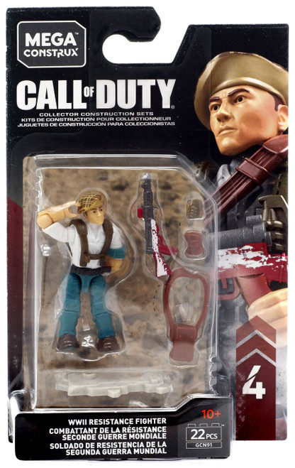 Call of Duty Specialists Series 4 WWII Resistance Fighter Mini Figure