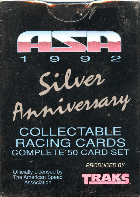 American Speed Association ASA 1992 Silver Anniversary Trading Card Set [50 Cards]