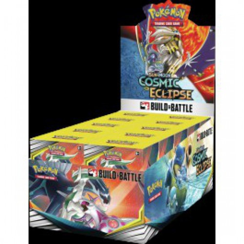 Pokemon Trading Card Game Sun & Moon Cosmic Eclipse Build & Battle Box [4 Booster Packs & 23-Card Evolution Pack!]