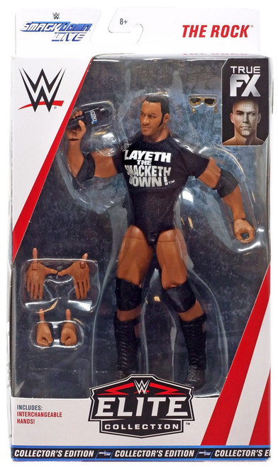 WWE Wrestling Elite Collection Smackdown Live The Rock Exclusive Action Figure [Layeth the Smacketh Down!]