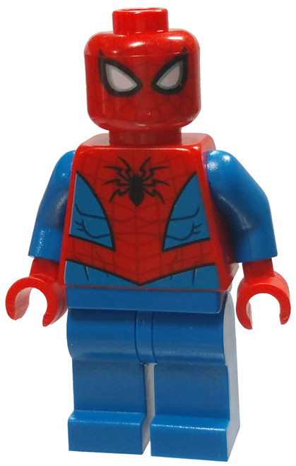 LEGO Marvel Super Heroes Spider-Man Minifigure [Dark Red Web Pattern Loose]