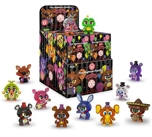 Funko Five Nights at Freddy's Mystery Minis Pizza Simulator Mystery Box [12 Packs, Glow in the Dark]