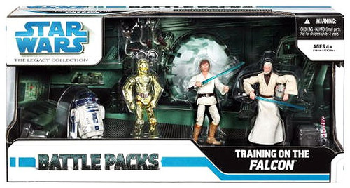 Star Wars A New Hope 2008 Legacy Collection Training on the Falcon Action Figure Set